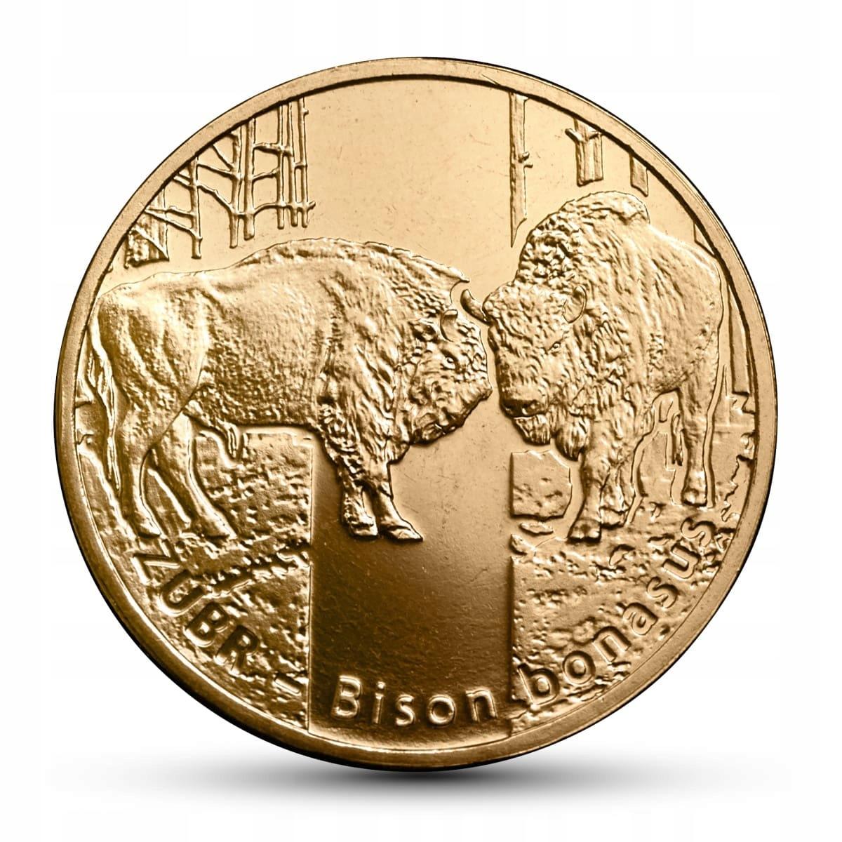 2 злотых монеты