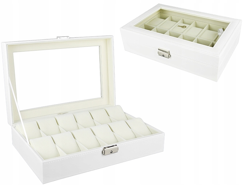 Item BOX BOX WATCH CASE FOR 12 HOURS WHITE