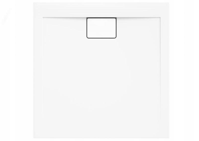 Štvorcová sprchová vanička Vegar White 100x100x1,5x4,5 cm + sifón