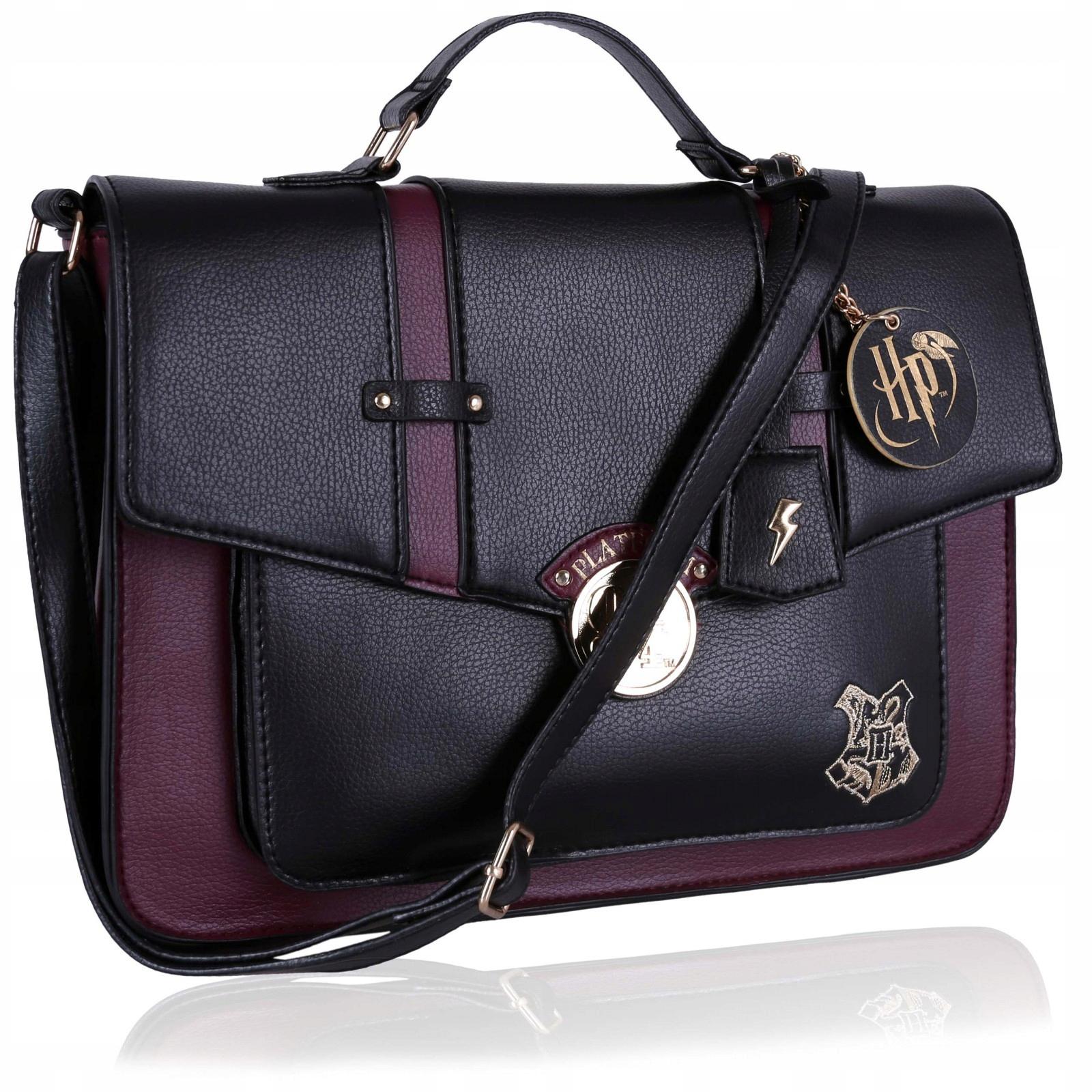 Czarno-bordowa torba na ramię Harry Potter