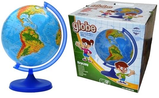 Globus FIZYCZNY 220 mm i KOLOROWY karton NA PREZENT