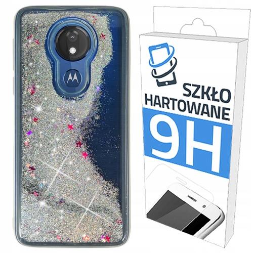 Etui Brokat+szkło Szybka do Motorola Moto G7 Power