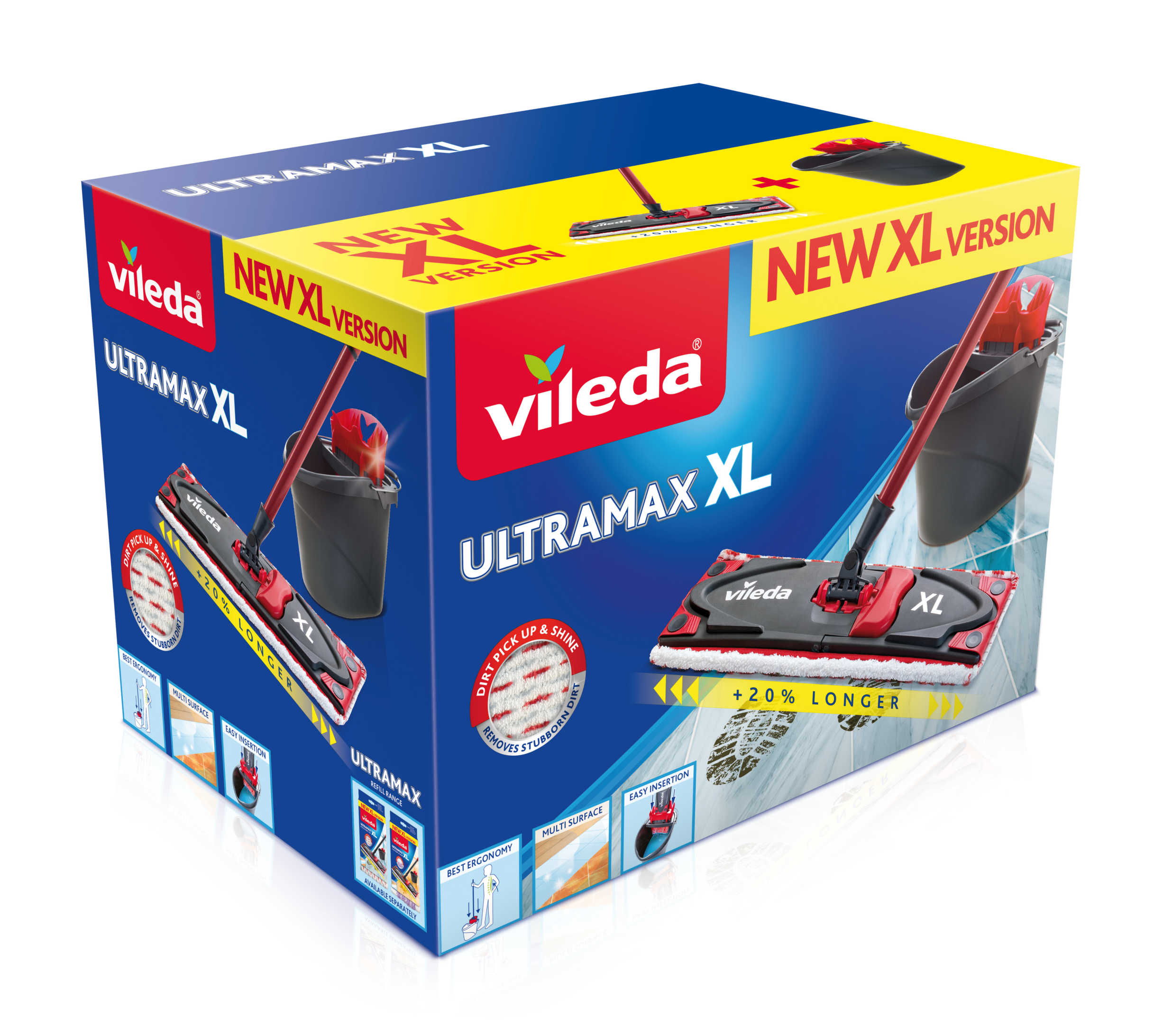 Vileda Mop płaski Ultramax XL Box zestaw wiadro