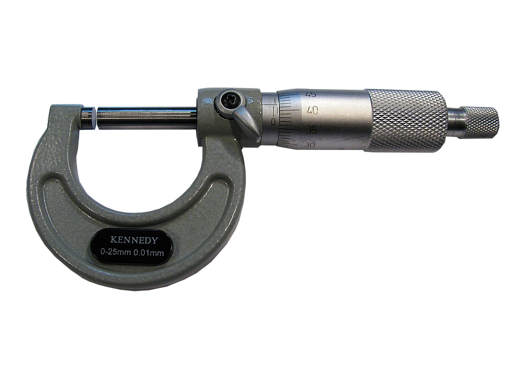 Vonkajší mikrometer mikrometrov 0-25mm Kennedy UK