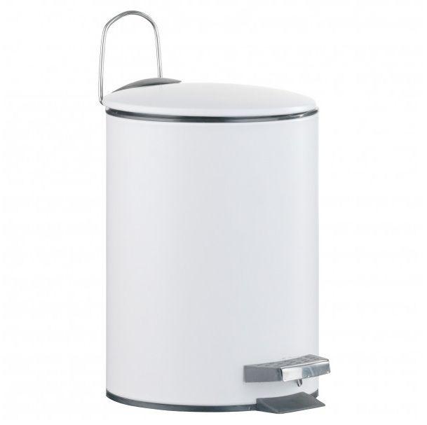 Kúpeľňový kôš Lugano 3 L biele