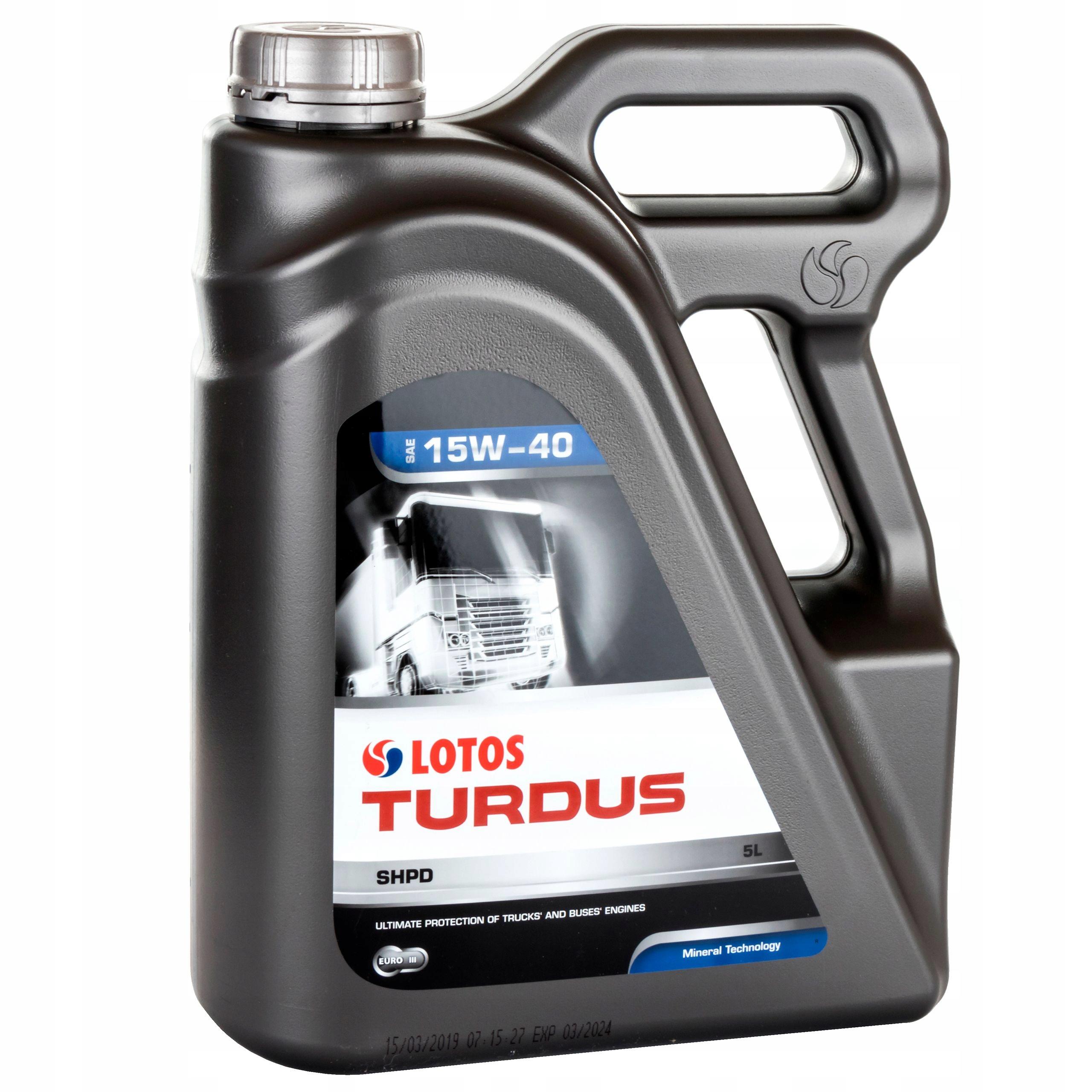 Motorový olej Turdus SHPD 15W / 40 5L