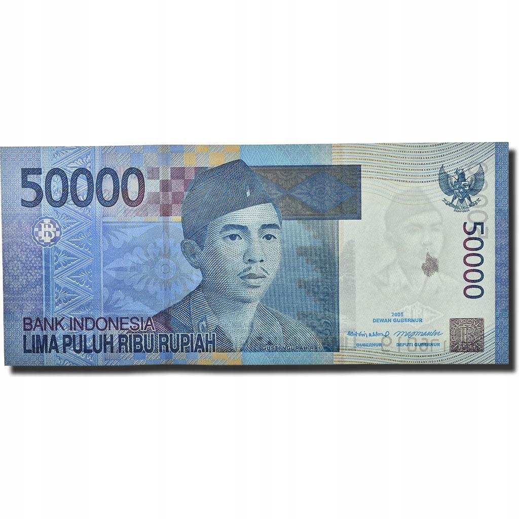 Банкнот, Индонезия, 50 000 рупий, 2005 г., КМ: 145a,
