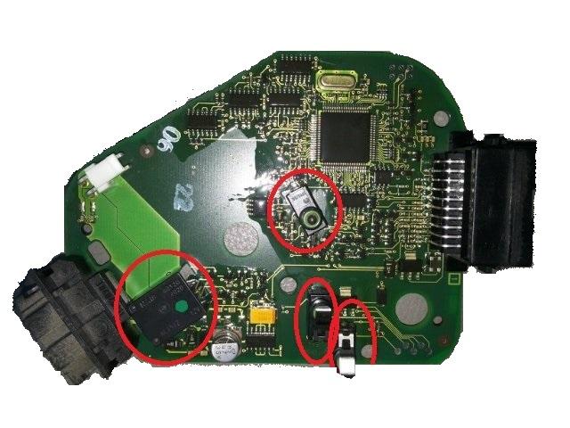 комплект ремонтный блокировки 4f0905852b audi a6 c6 q7