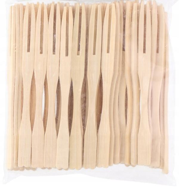 Bambusové vidlice pre 2-zuby opravy 100ks.
