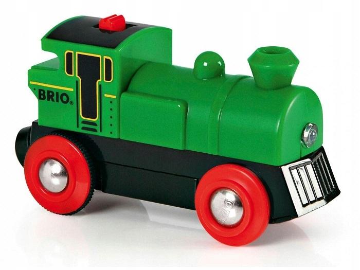 Batériový lokomotíva BRIO Zelená parná lokomotíva 33595