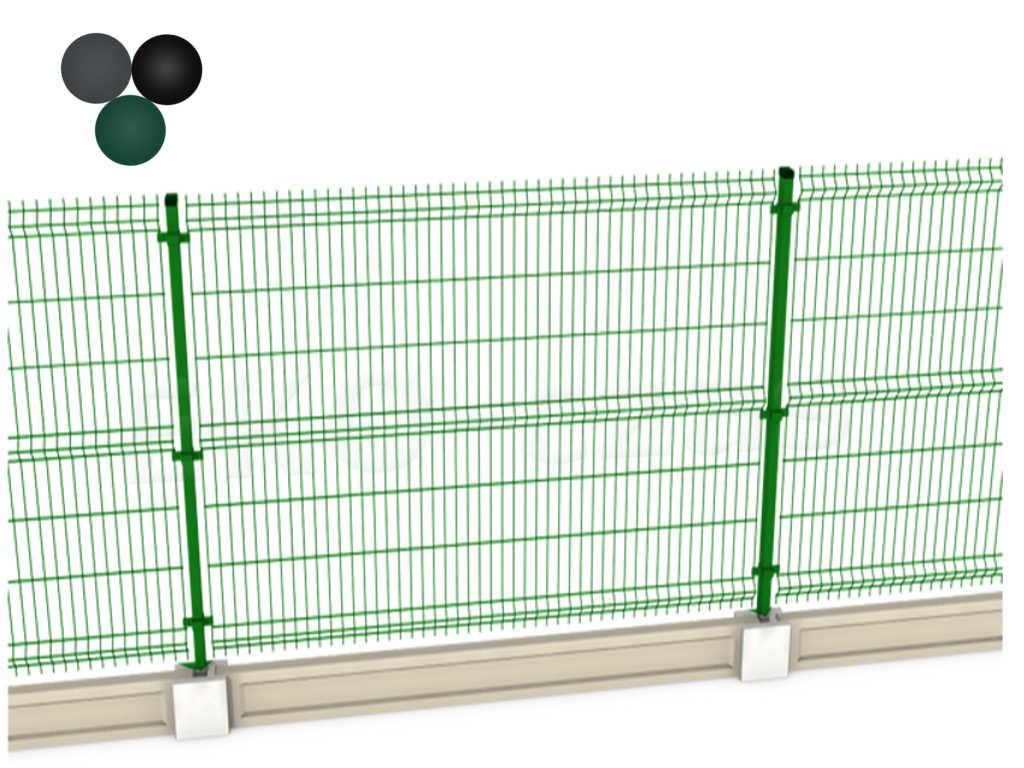 Ogrodzenie Panelowe 180 Cm Z Podmurowka Kolor 4 Mm 6831111275 Allegro Pl