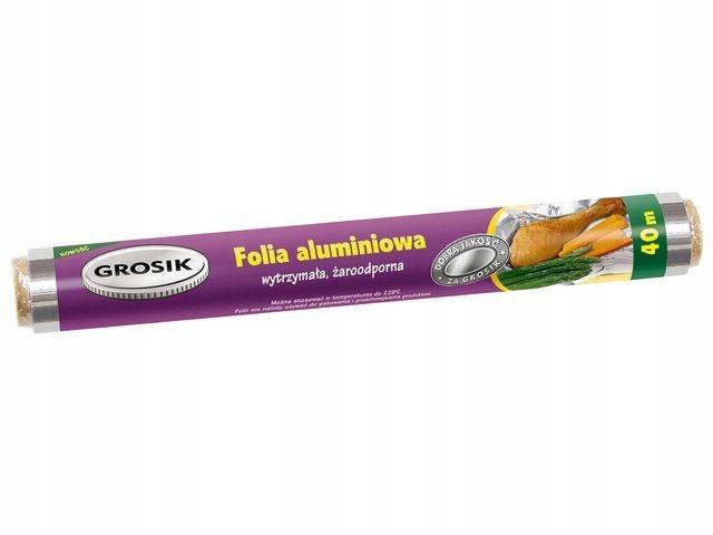 Folia aluminiowa spożywcza 40m, Grosik
