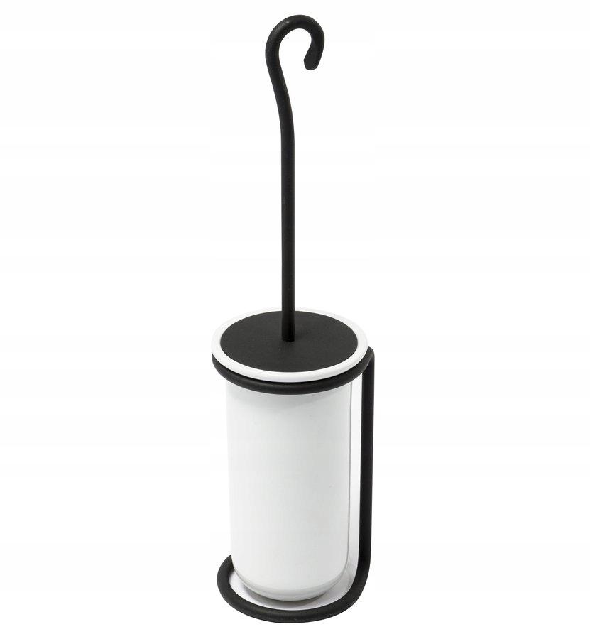 Čierna/keramická kefa vintage WC,REBECCA