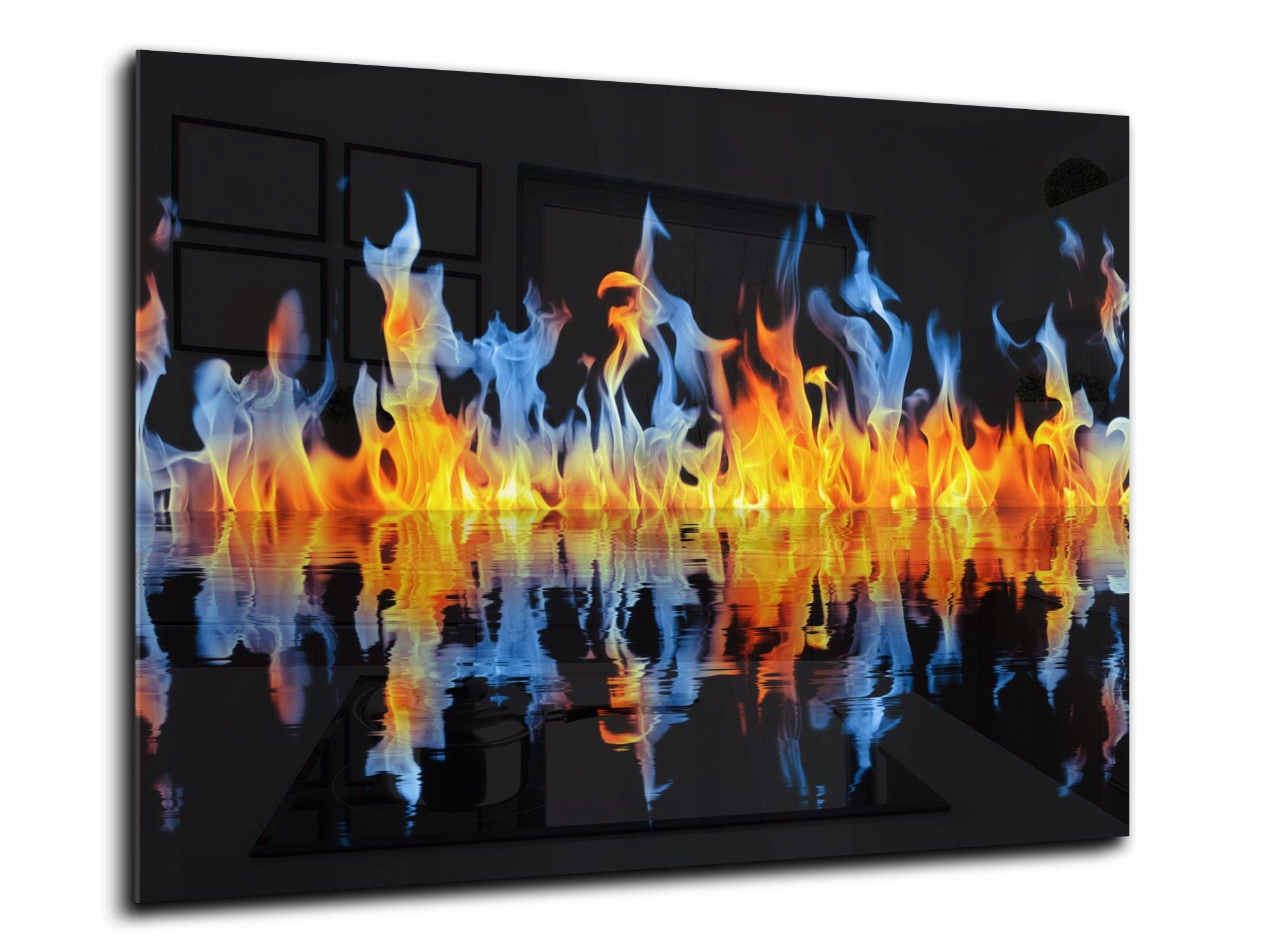 steny dlaždice, sklo, kuchynské 90x65 požiaru