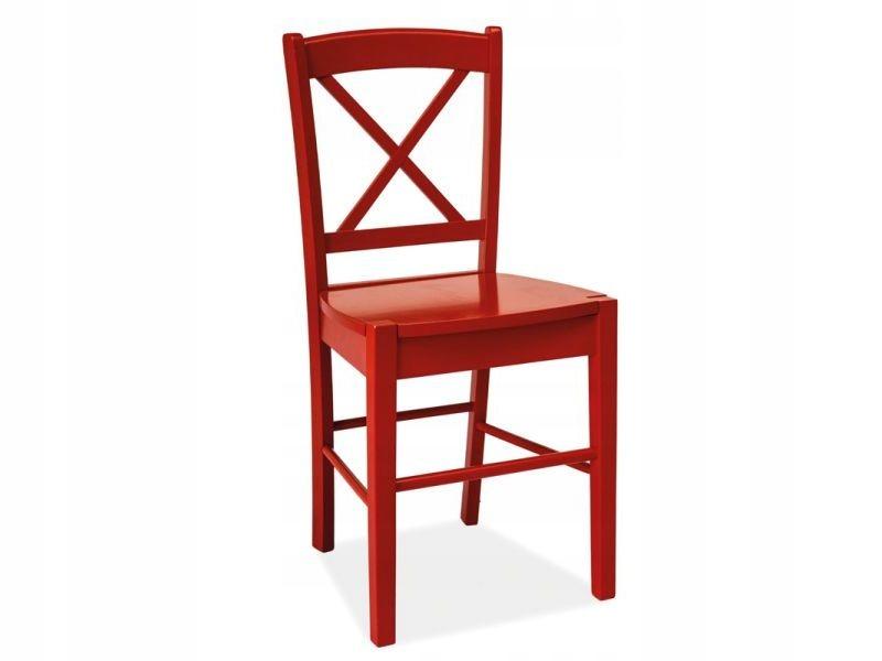Krzesło drewniane CD-56 czerwone w modnym stylu