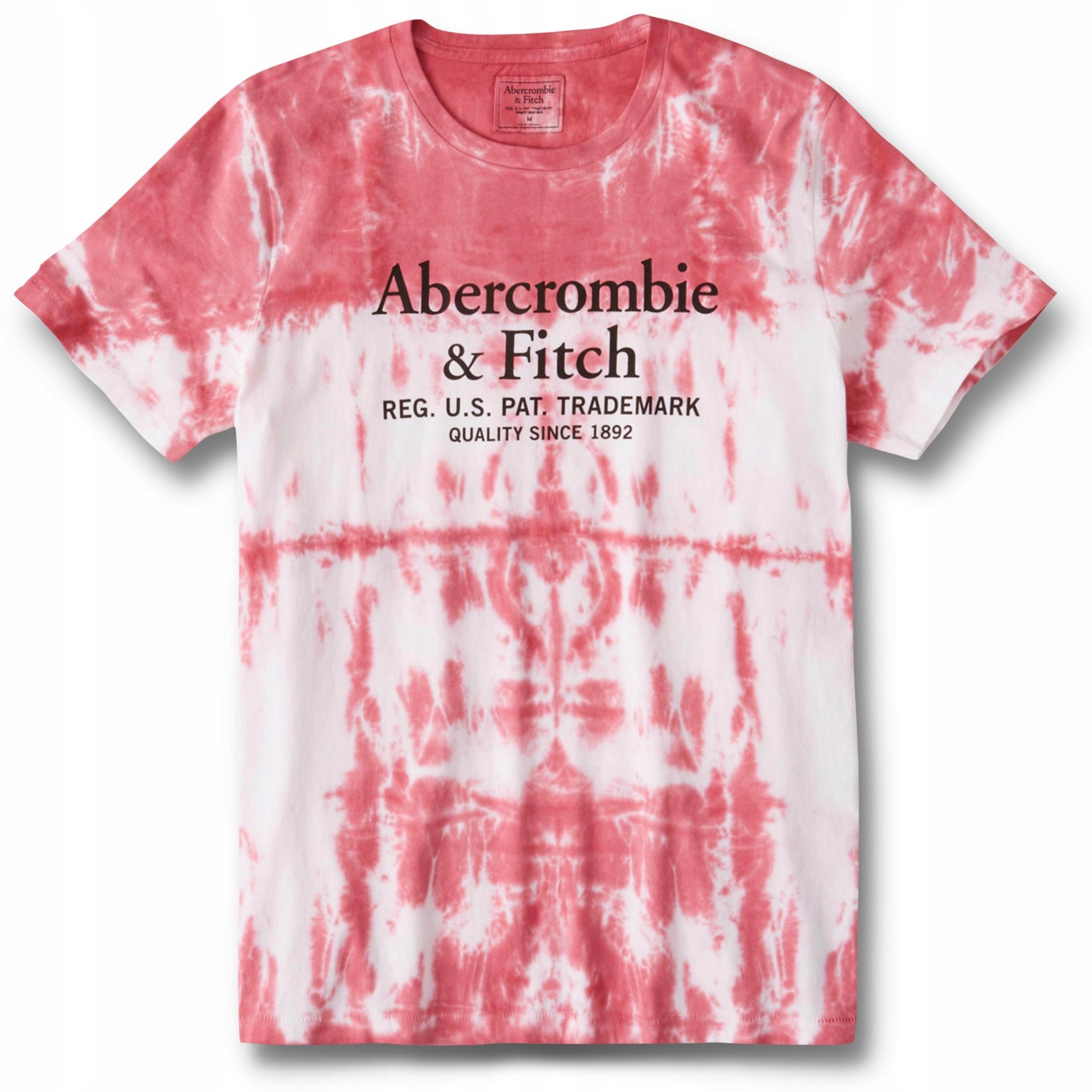 T-shirt logo różowy ABERCROMBIE Hollister USA XXL