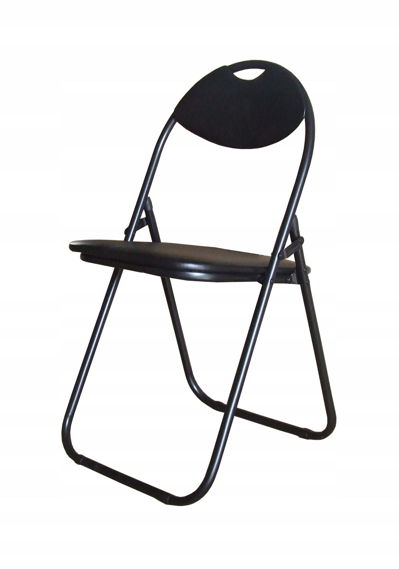 Krzesło składane model B czarny / czarny ZM FARTA