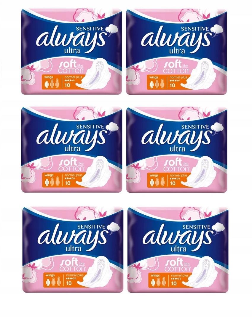 Гигиенические прокладки Always Sensitive Ultra Normal Plus 6x10