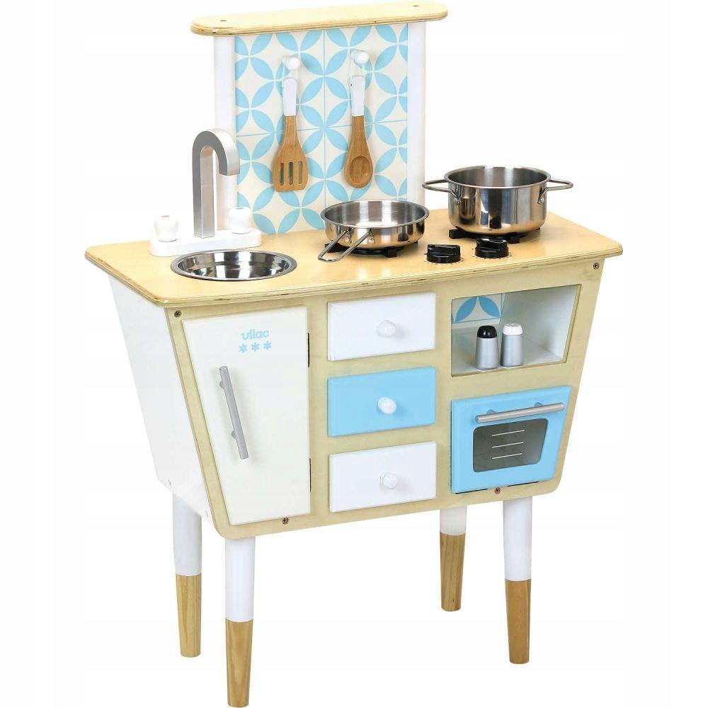VILAC: drevené RETRO kuchyňa s príslušenstvom, 3+