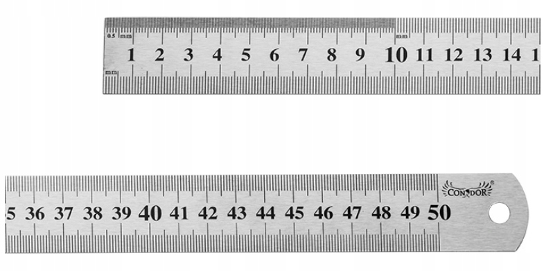 PRZYMIAR LINIOWY 500 mm LINIAŁ LINIJKA STALOWY