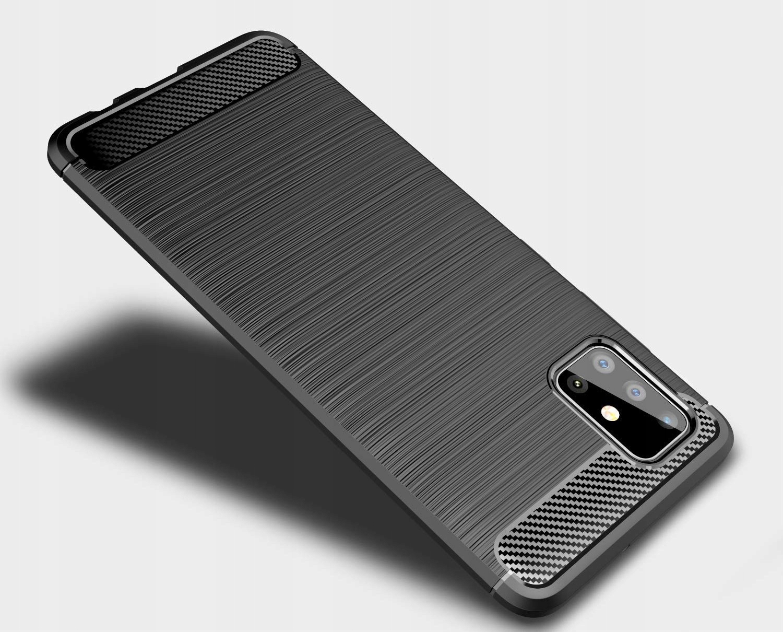 ETUI do Samsung Galaxy M51 KARBON PANCERNE + SZKŁO Producent INNY