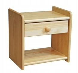 Szafka nocna sosnowa drewniana z szufladą 42x40x30 Marka Inny producent