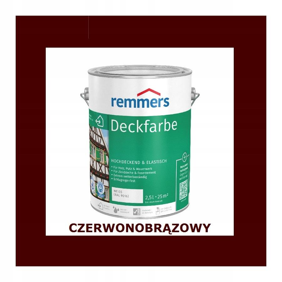 REMMERS DECKFARBE 10 l CZERWONOBRĄZOWY
