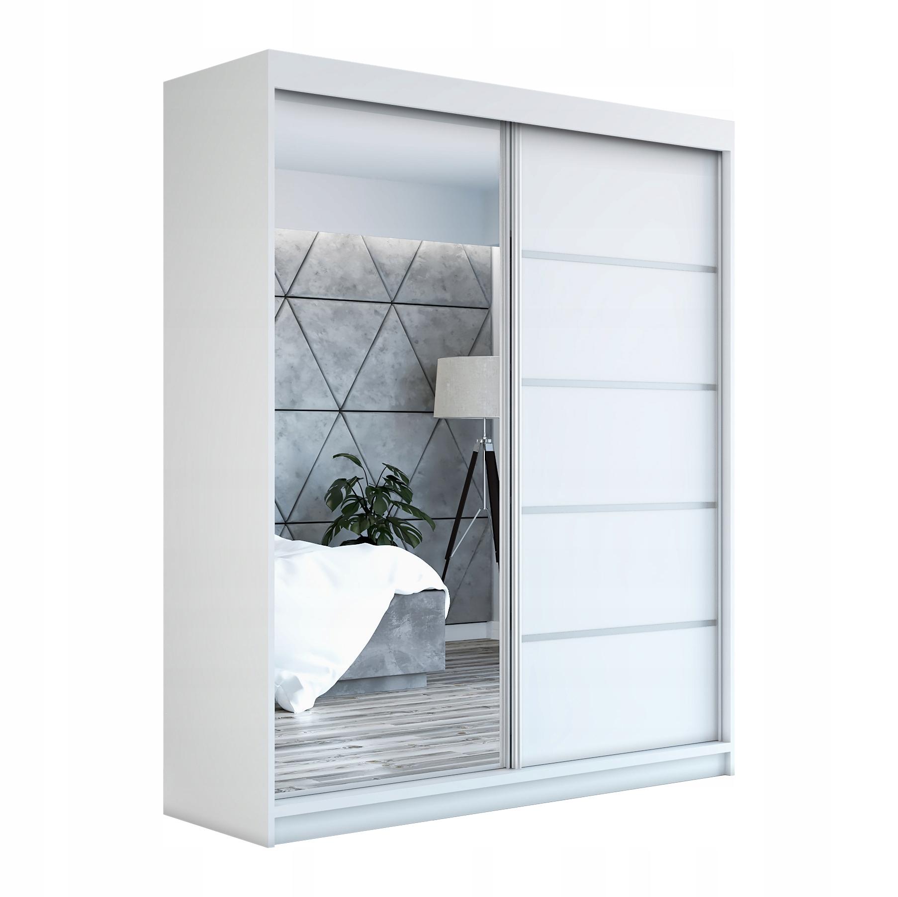 белая шкаф купе с зеркалом Gap 180 гардероб