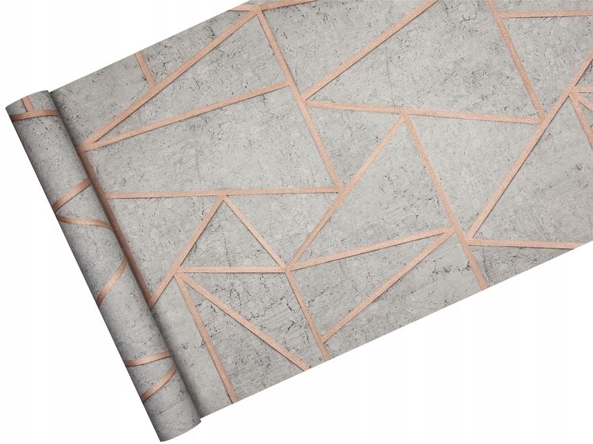 Обои ГЕОМЕТРИЧЕСКАЯ бетон и МЕДЬ в стиле SOHO