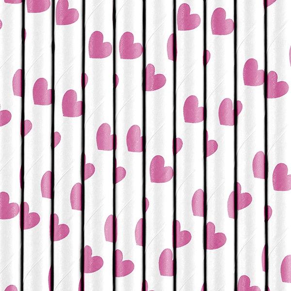 Соломинки в сердечках на девичник на День святого Валентина