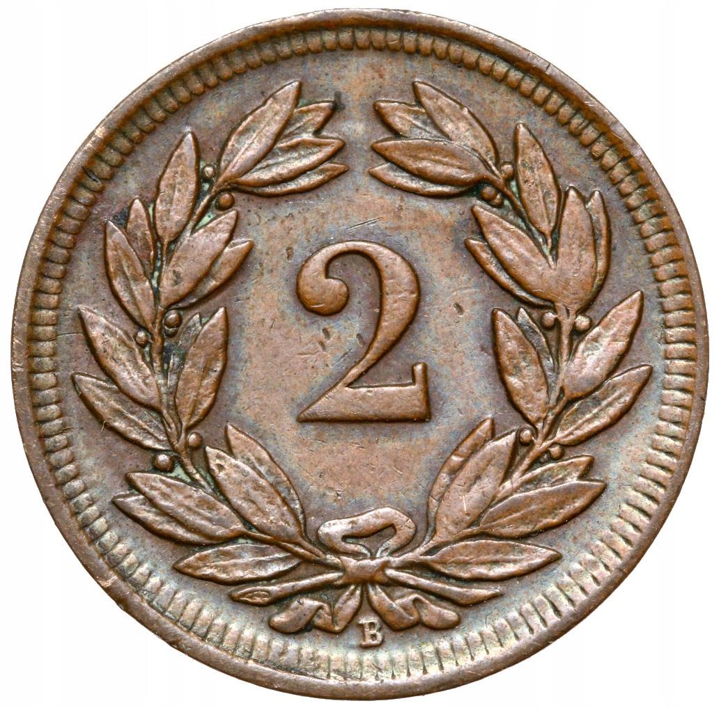 + Švajčiarsko - 2 Rappen 1900 B