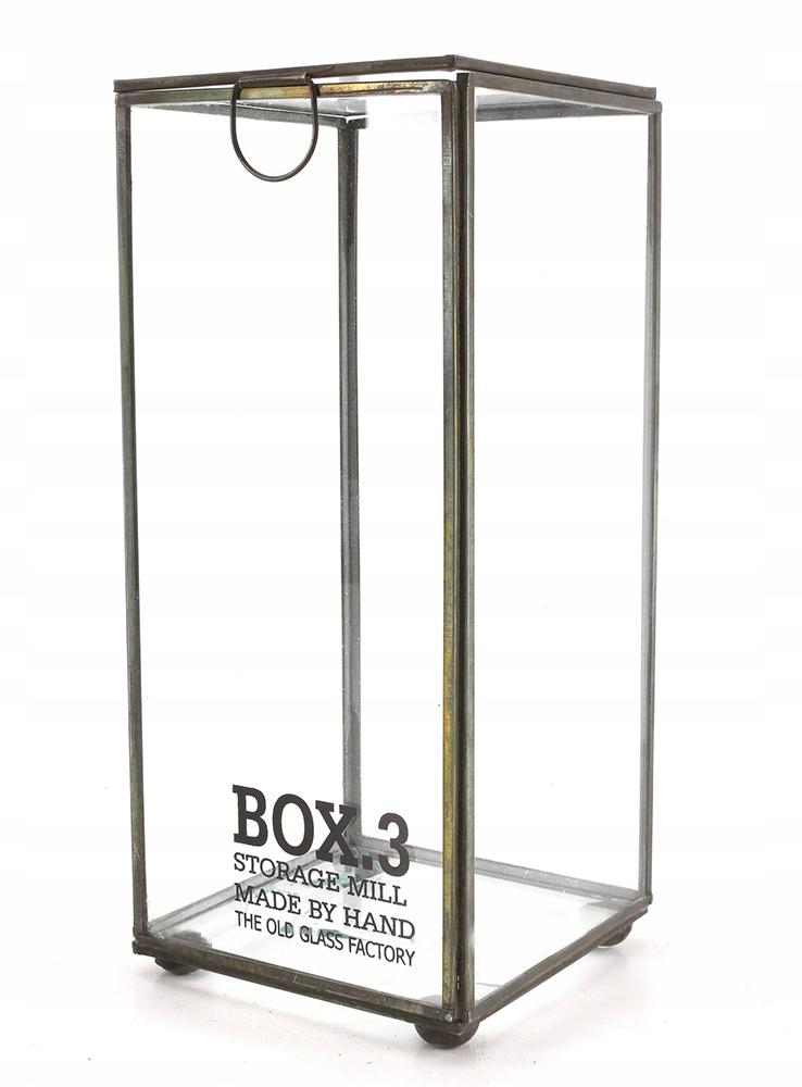 """BOX pre maličkosti """" SKLO retro-štýl 26 cm"""