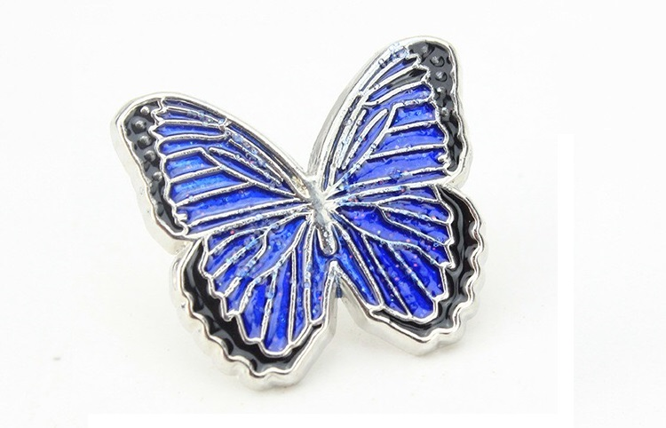 Pins przypinka niebieski Motylek motyl
