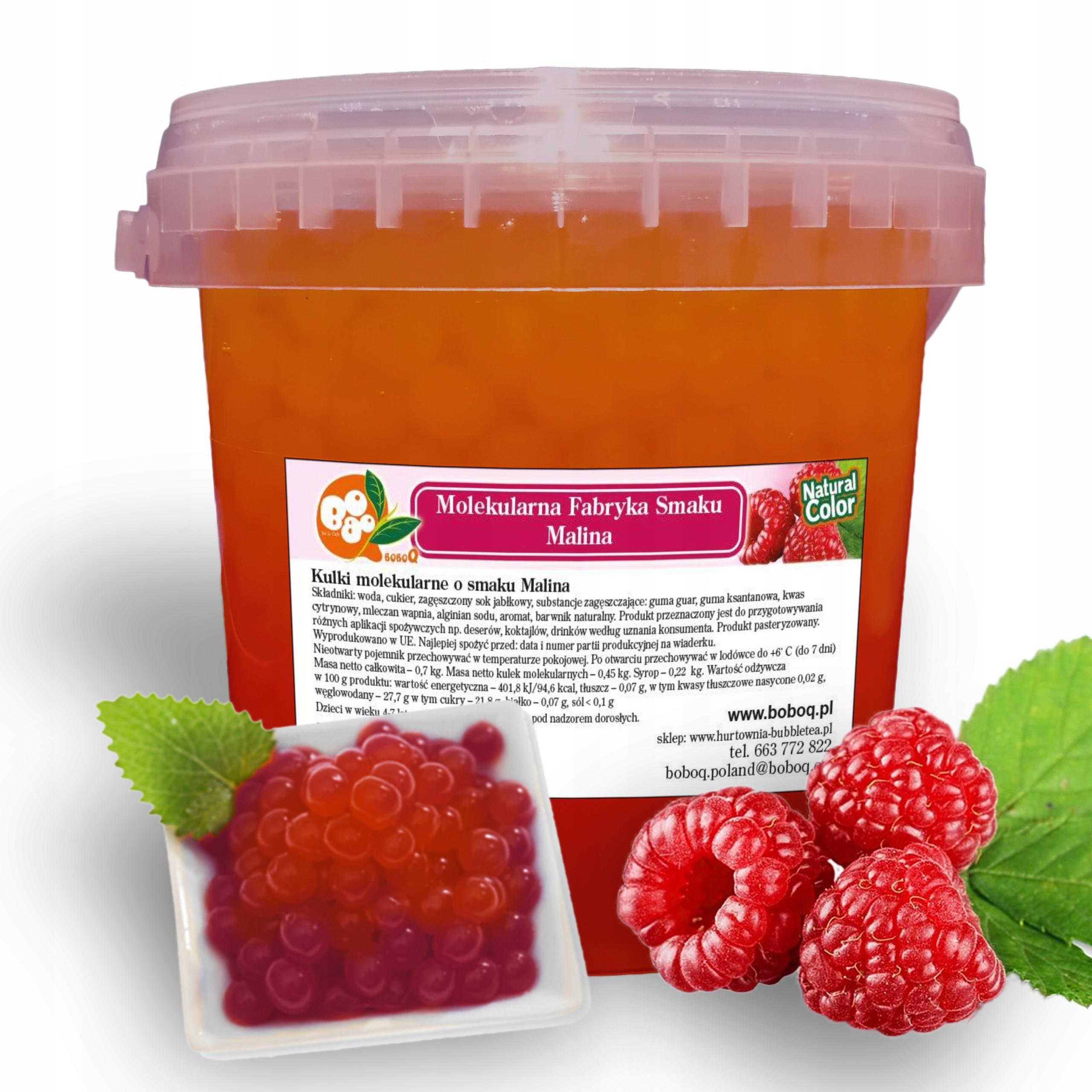 Item Molecular Caviar with the scent of Raspberry 0.7 kg Bubble Tea