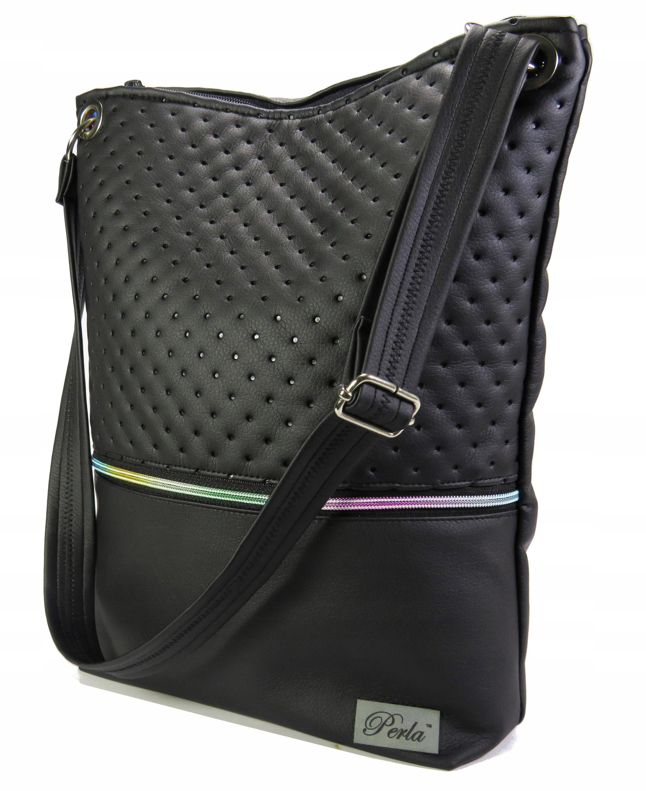 Классическая женская сумка, черная радуга, молния