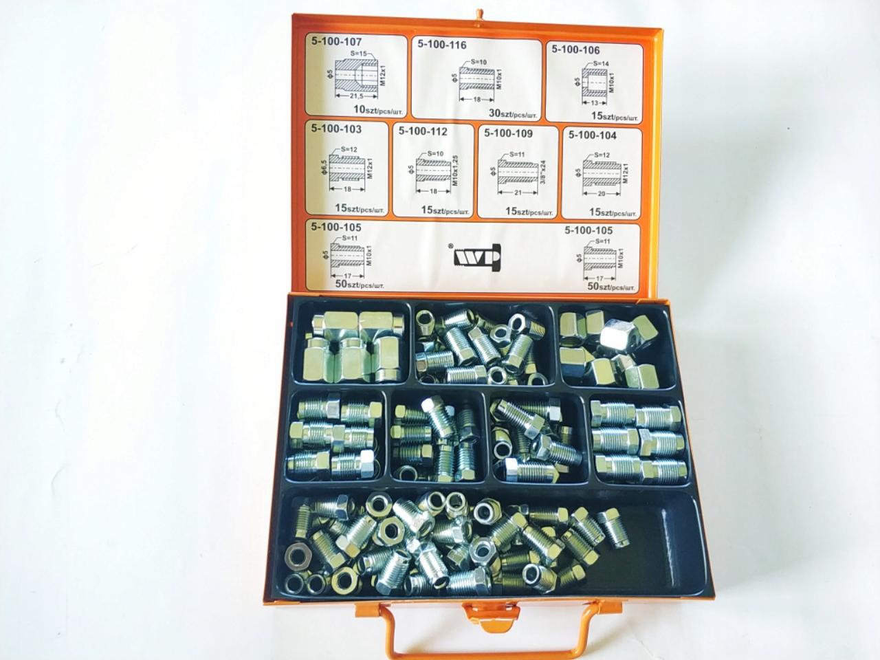 комплект 165szt наконечников фитингов кабель тормозная система