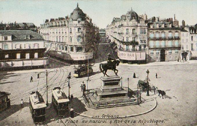 Orleans. La Place du Martro a Et Rue de la ... 1911