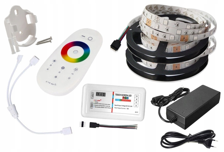 комплект лента LED 10м RGB + Белый 5050 пульт пополняет