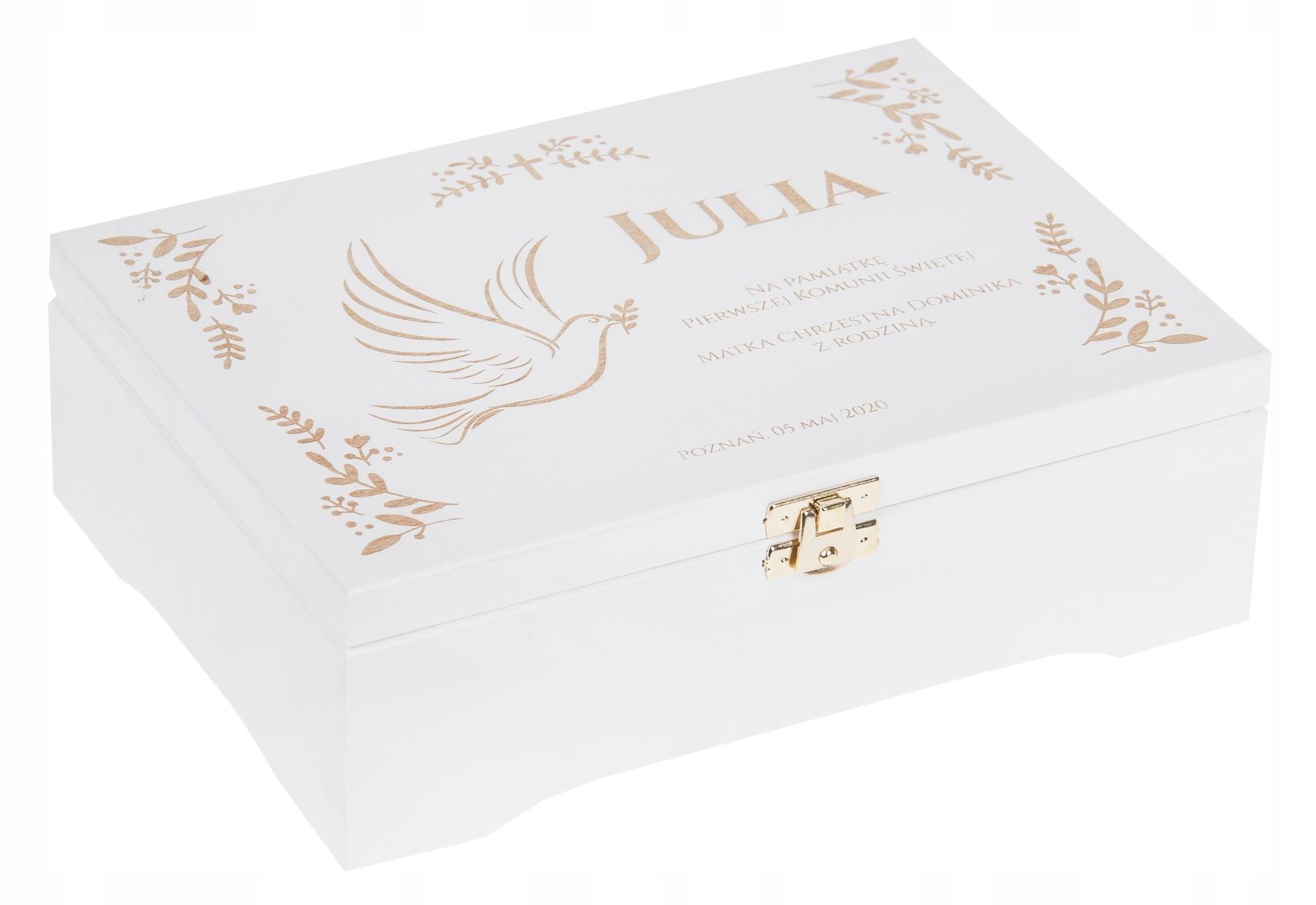 Сувенирная коробка для подарка на Святое Причастие GRAWER