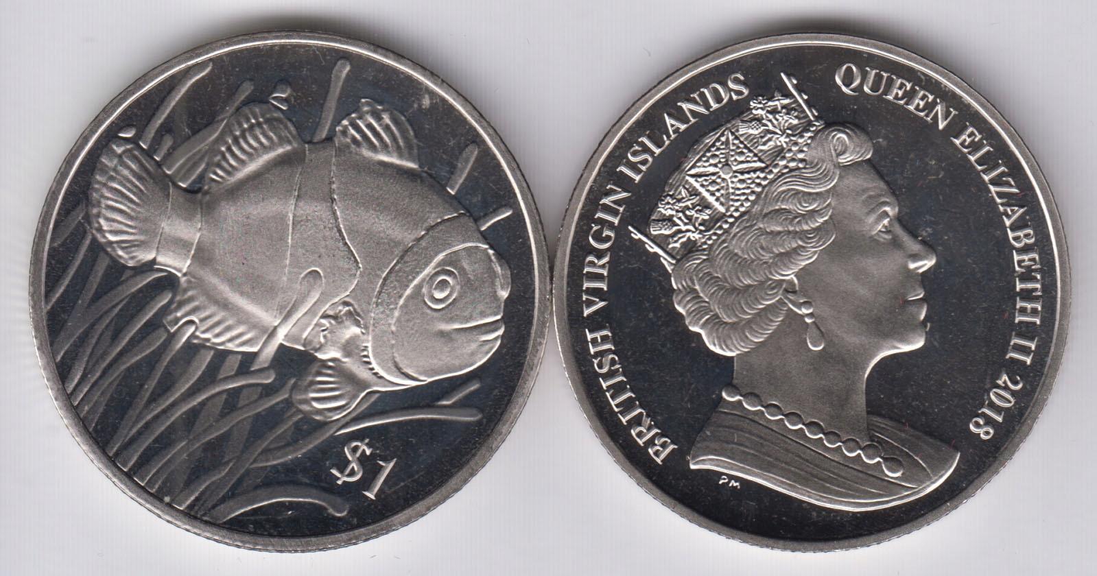 Britská Virgin 1 $ Rybka Nemo