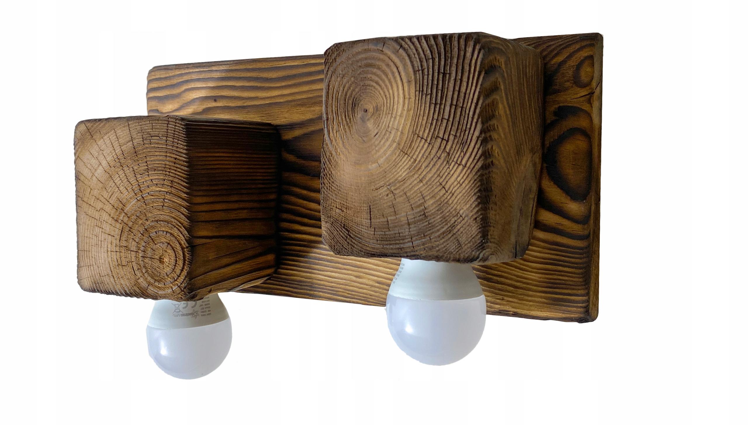 Nástenné svietidlo drevené lampa loft nástenné svietidlo retro