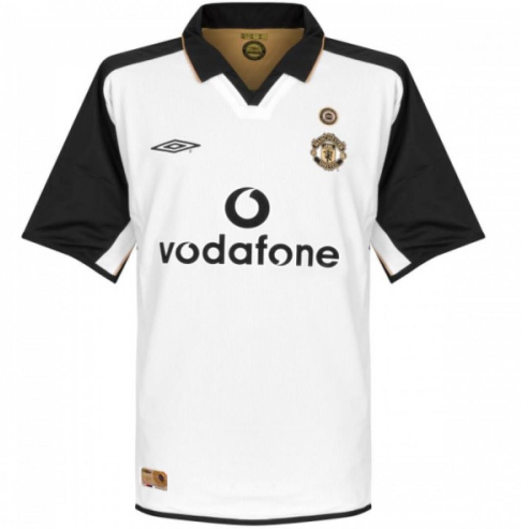 T-tričko MANCHESTER UNITED 2001/02 Rev. RETRO roka.XL