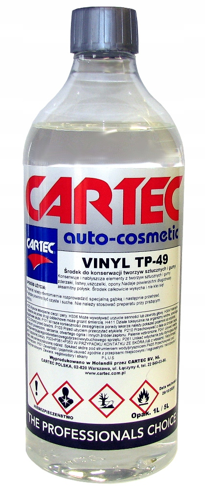 CARTEC VINYL TP-49 tworzywa na zewnątrz,opony -1l