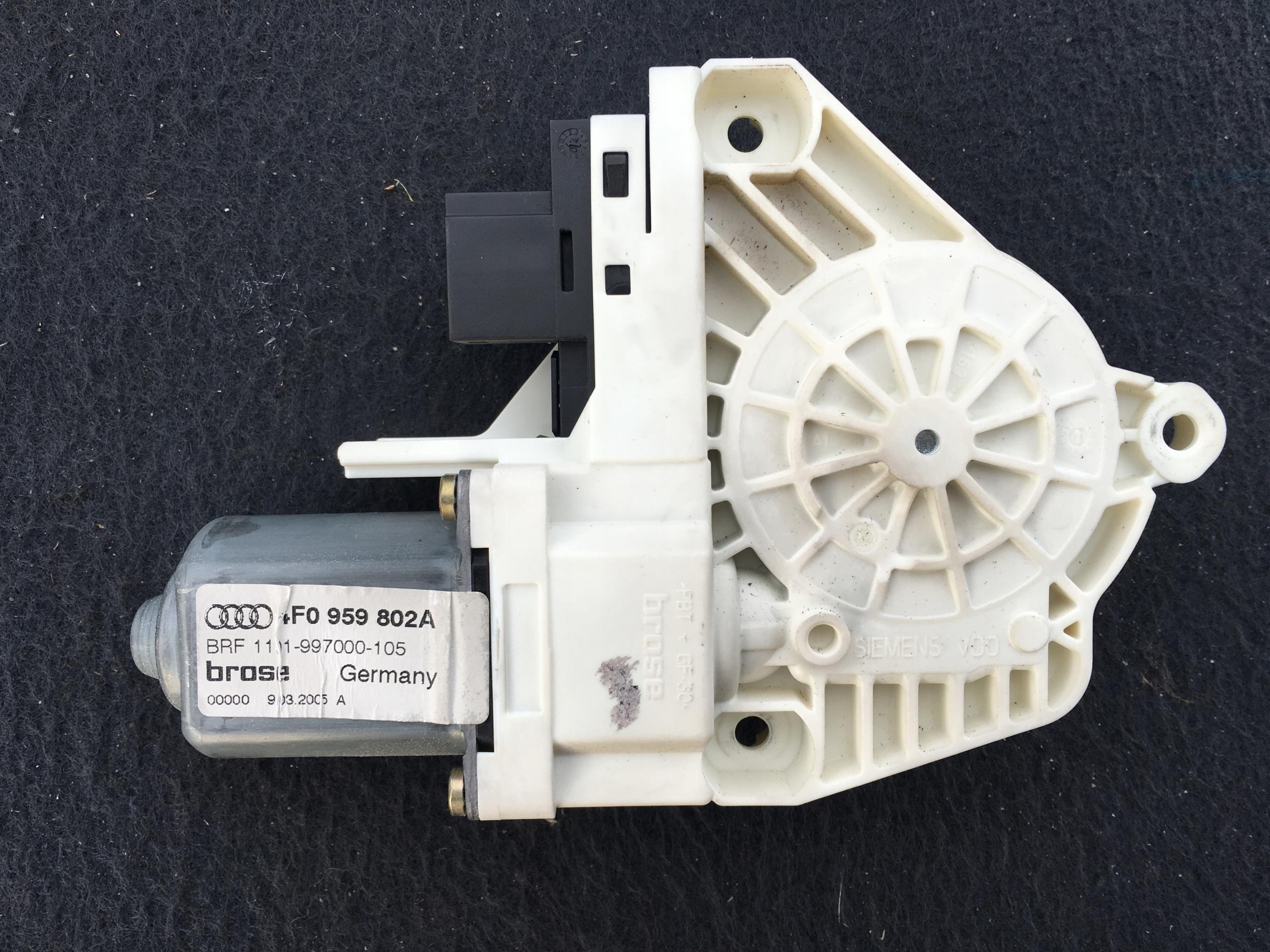 двигатель стекла правый сзади audi a6 c6 4f0959802a