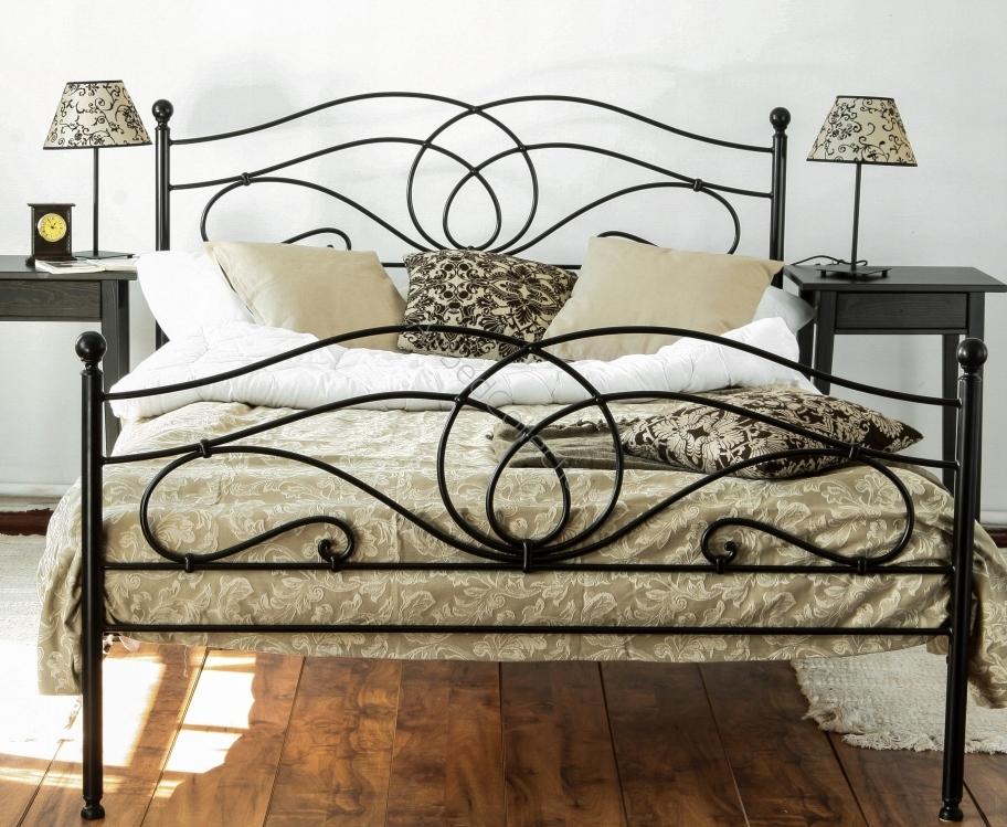 łóżko Kute Metalowe Iris 140x200 Dwa Szczyty