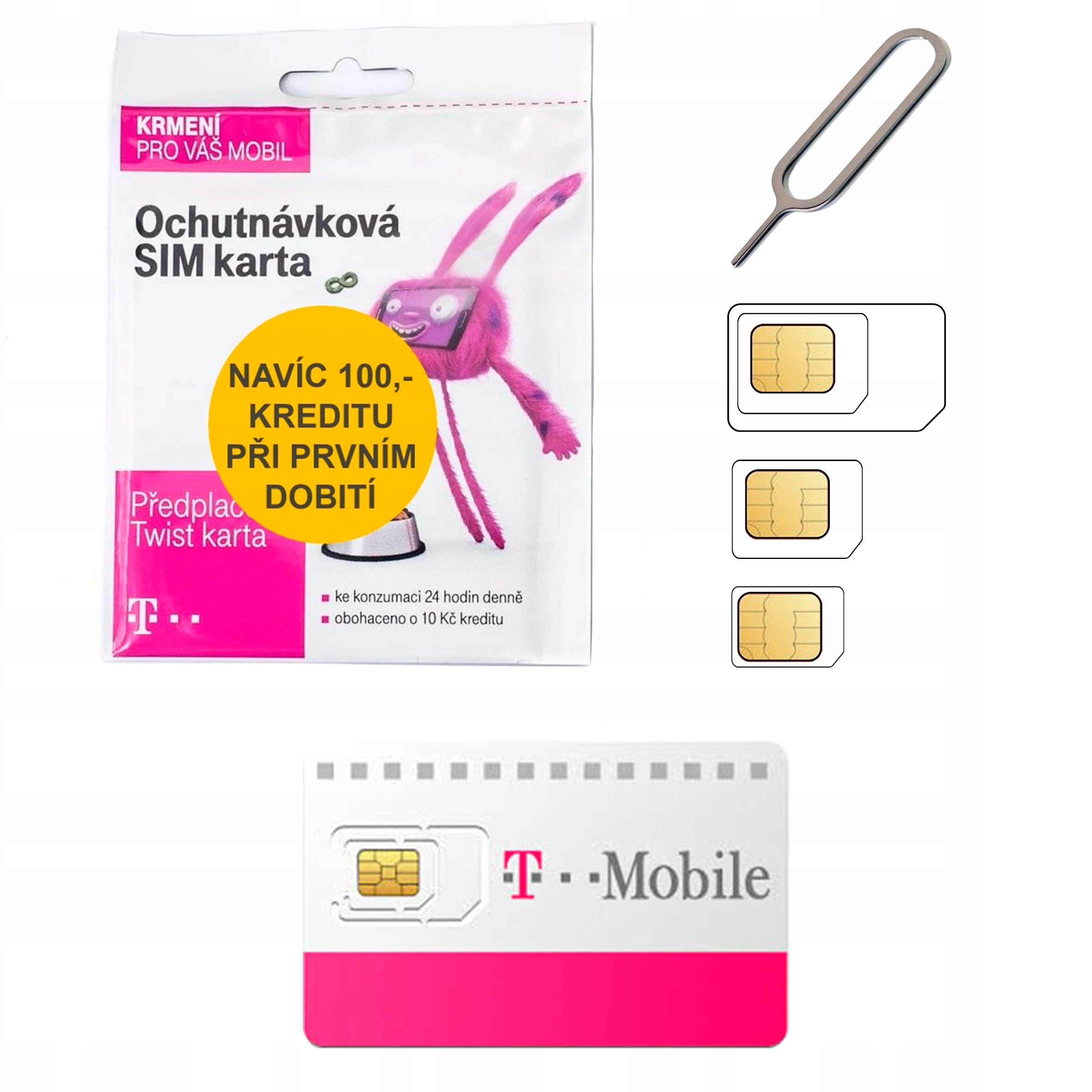 Item The Czech Sim Card T-mobile WITHOUT any REGISTRATION + Free