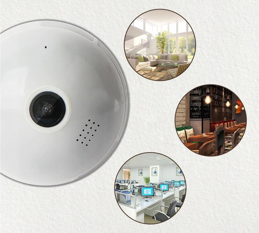 Kamera IP WiFi monitoring 360 w żarówce LED audio Model B13-R