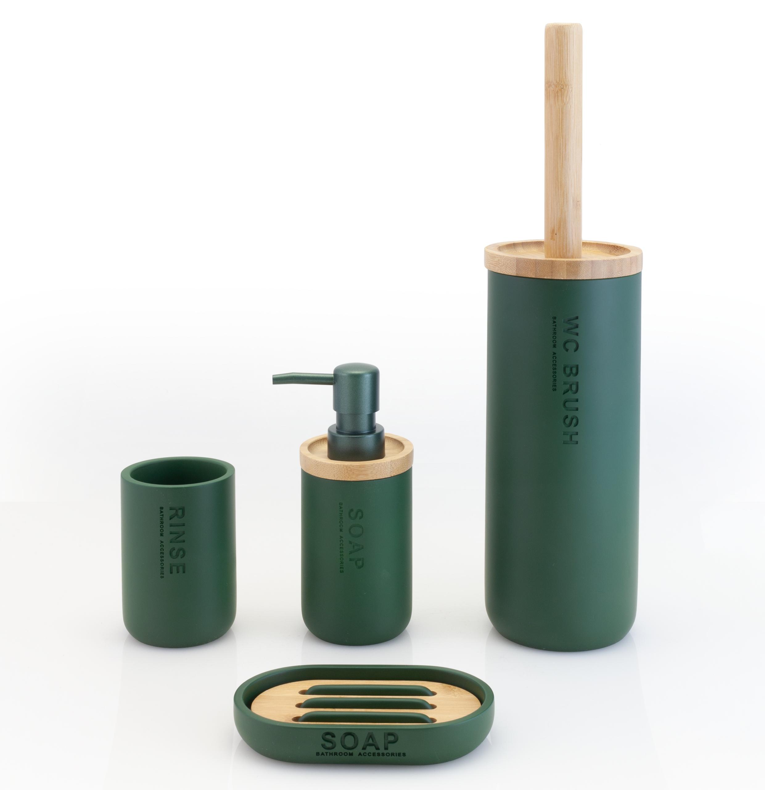Švédska kúpeľňová súprava 4 kusy zelená Príroda