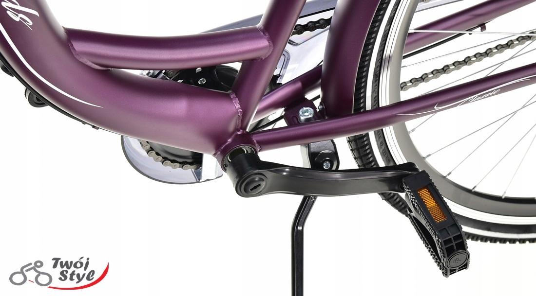 Polski Rower 28' LAGUNA SCOMFORT 3-B MIĘTOWY 2020 Wyposażenie dodatkowe bagażnik błotniki dzwonek oświetlenie stopka osłona łańcucha