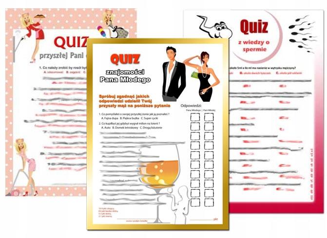 Zestaw 3x Quiz Test Na Wieczor Panienski Taniej 6027655079 Allegro Pl